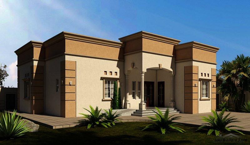 تصميم عصري  دار طابق واحد برنامج الشيخ زايد للاسكان 3  غرف 246  متر مربع