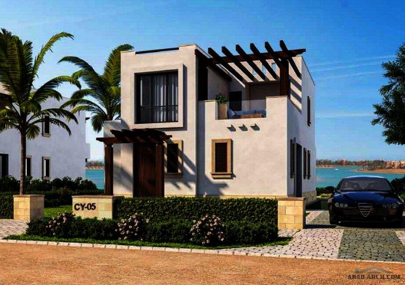 تصميم شاليه بمسبح خاص مع غرفة نوم ماستر علوية