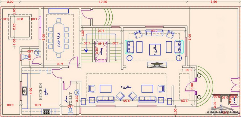 مخطط رائع جدا توين فيلا ابحر جدة من اعمال شركة فرسان العقارية اطوال 25 * 11.5 متر