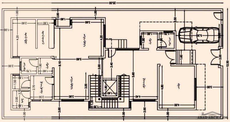 مخطط اطوال الارض 12.5x25 تصميم سعودي طابقين من مشاركات مخططات فلل تويتر