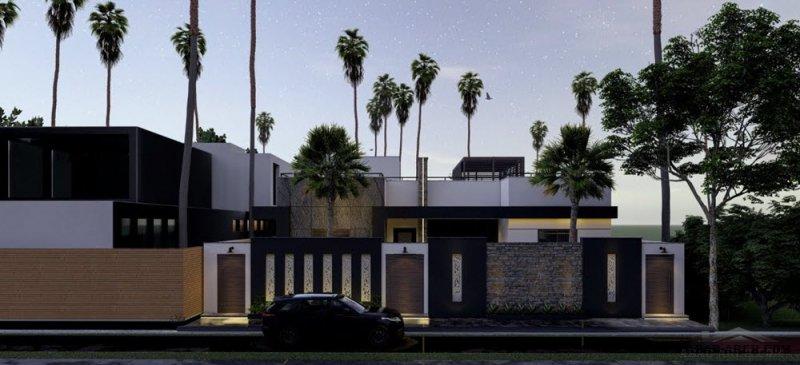 تصاميم فيلا الليث طابق واحد من اعمال شركة ريفيت للهندسة والانشاء