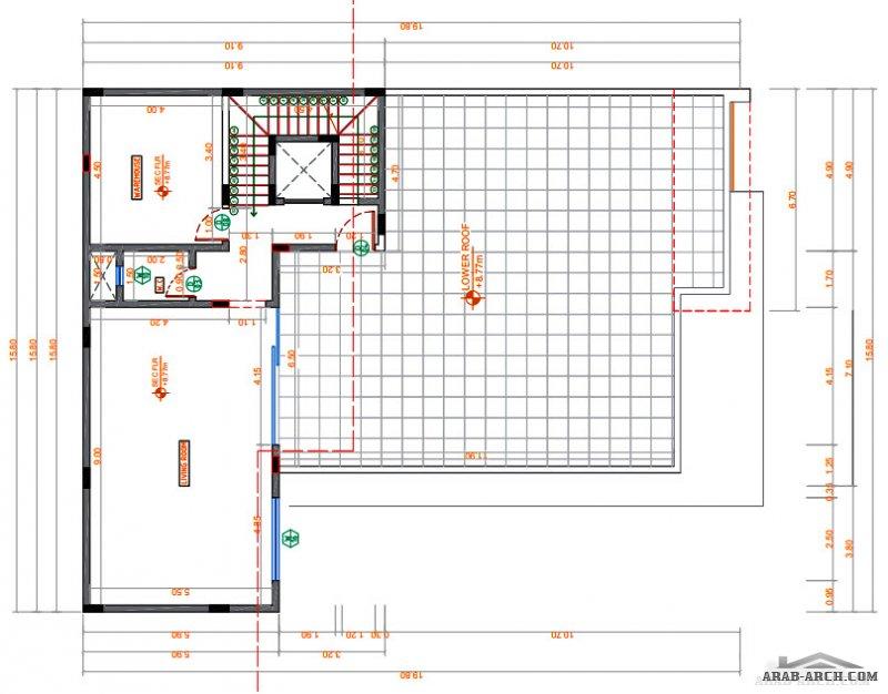 مخطط رائع و مميز لفيلا سعودي مساحة الارض 600 متر مربع - ابعد الارض 20*30 متر
