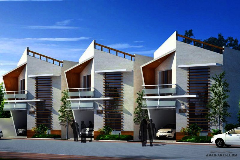 مخطط شاليهات صغيرة المساحة طابقين - ممكن فلل سكنية صغيرة المساحة