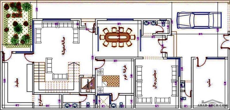 مخطط فيلا دورين  مساحة الارض 12x25 المصمم م/ عمر سرحان مكتب السريع منشورات تويتر مخطاطات فلل