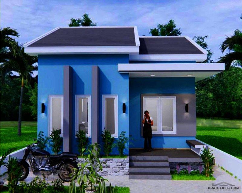 مخطط منزل 6 * 8 متر صغير المساحة حوالي 50 متر مربع 2  غرفة نوم
