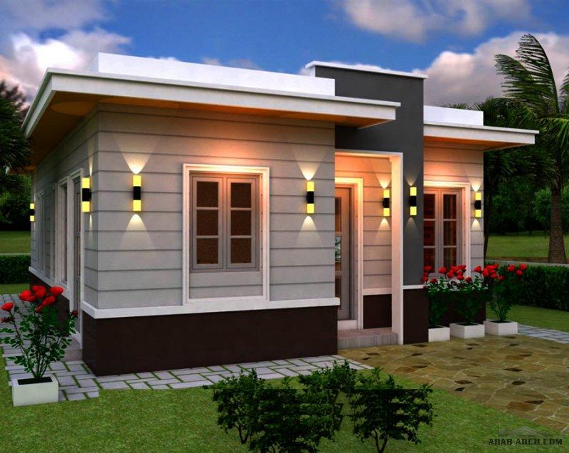 مخطط منزل صغير المساحة 70 متر مربع - 7*10 متر