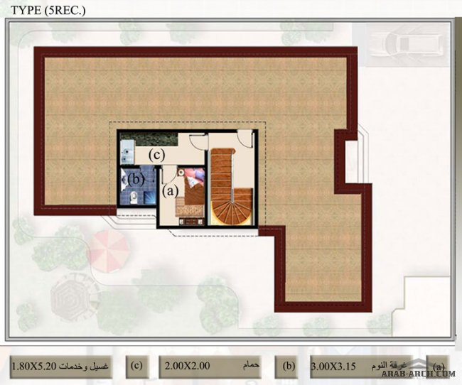 فلل مودرن بالمخطط 3d الديكور الداخلى Arab Arch: نماذج فلل الشروق من السديرى مخطاطات بلانات Arabia Villas