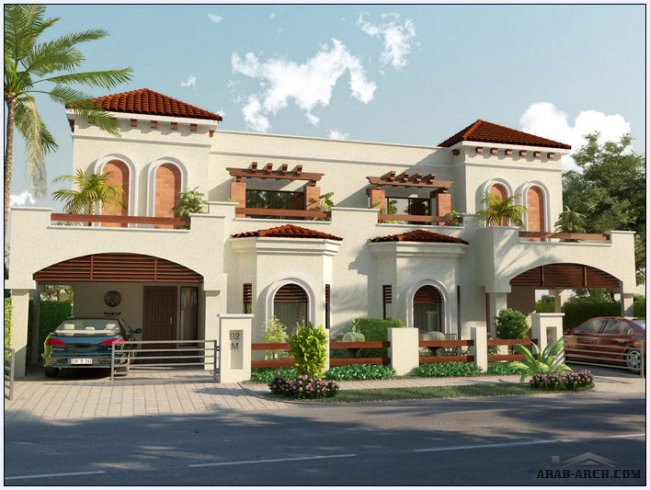 front elevation + floor plans - park view villas