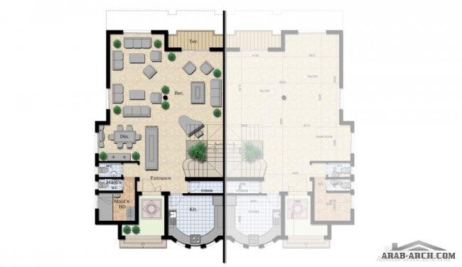 مخططات 3d هندسية فله مساحة313متر تصميم خريطة هندسية خرائط فلل خليجي مخطط فيلادور