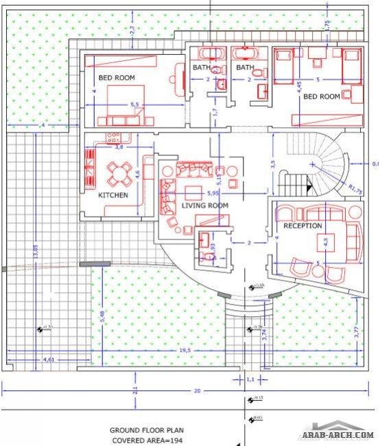 : خرائط منازل ليبية 200 متر : منازل