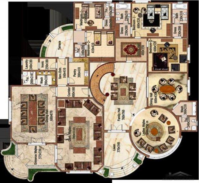 فلل مودرن بالمخطط 3d الديكور الداخلى Arab Arch: مخطط فيلا كبيرة من لينك للإستشارات الهندسية » Arab Arch