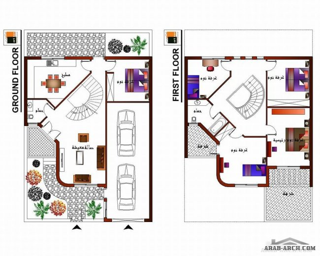 تصميم مساحته180متر تصميم بيوت280م تصاميم إعمار للمنازل هندسة معماريه منازل مساحة
