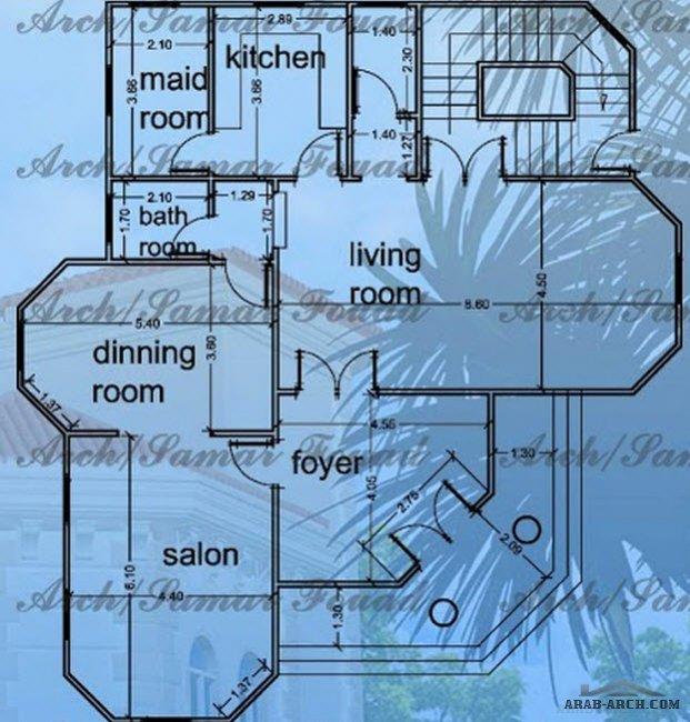 فلل مودرن بالمخطط 3d الديكور الداخلى Arab Arch: خريطة فيلا رائعه صغيرة المساحه