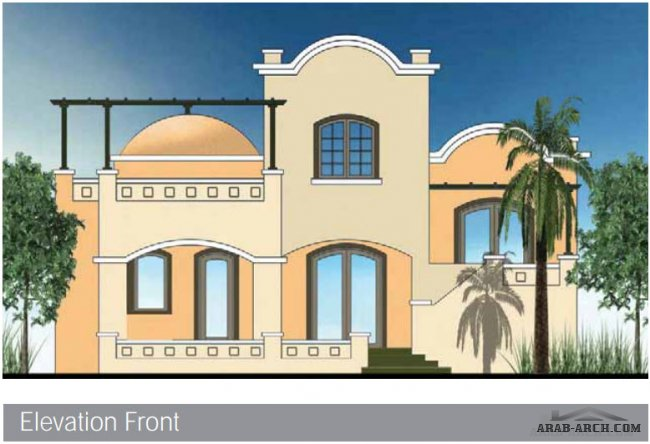 فيلات الجونة - West Golf Villa  Type D - Total Area: 171 m2 Floors: 2