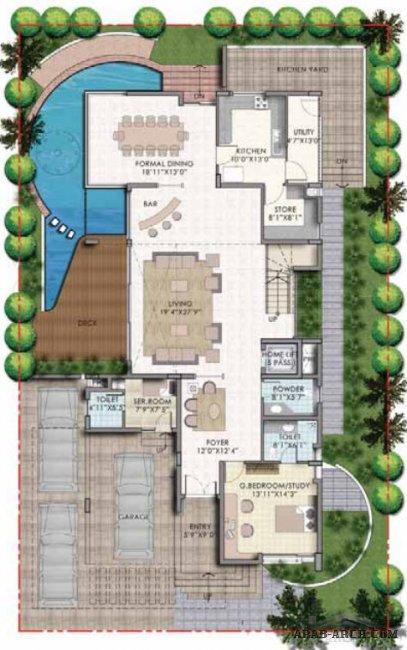 فيلا 3 طوابق 527 47 Sq M المبانى 187 Arab Arch