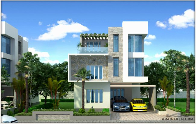 2D and 3D Floor plans - super luxury Gold Series Villas