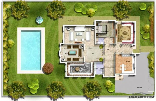 marrakech villa floor plans