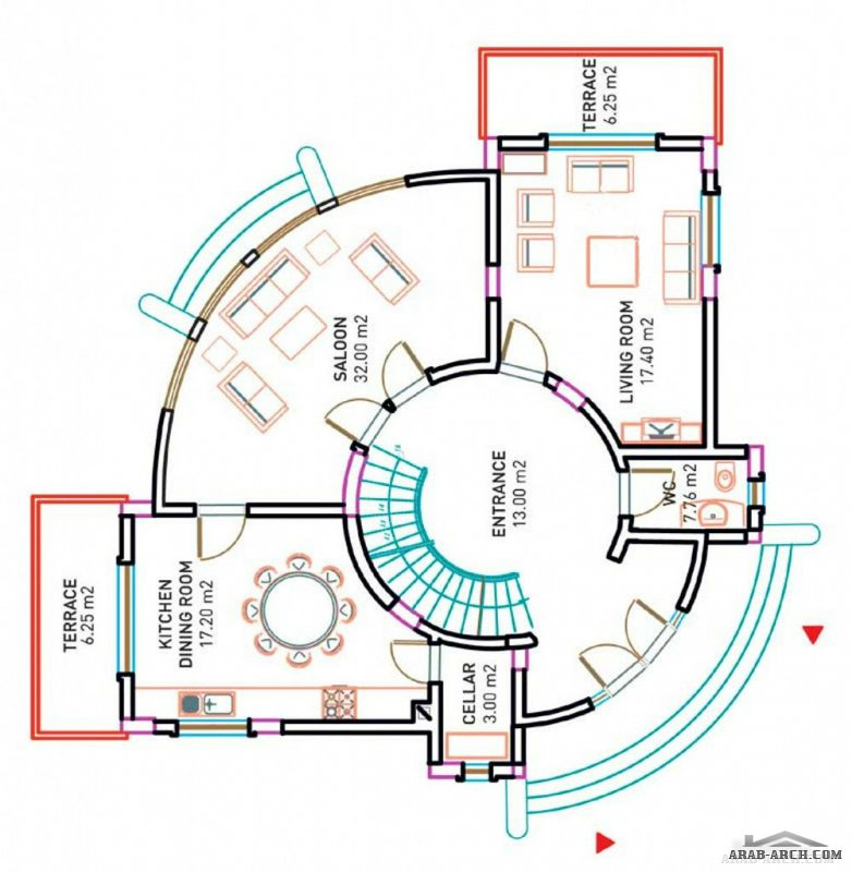 King Villa floor plans