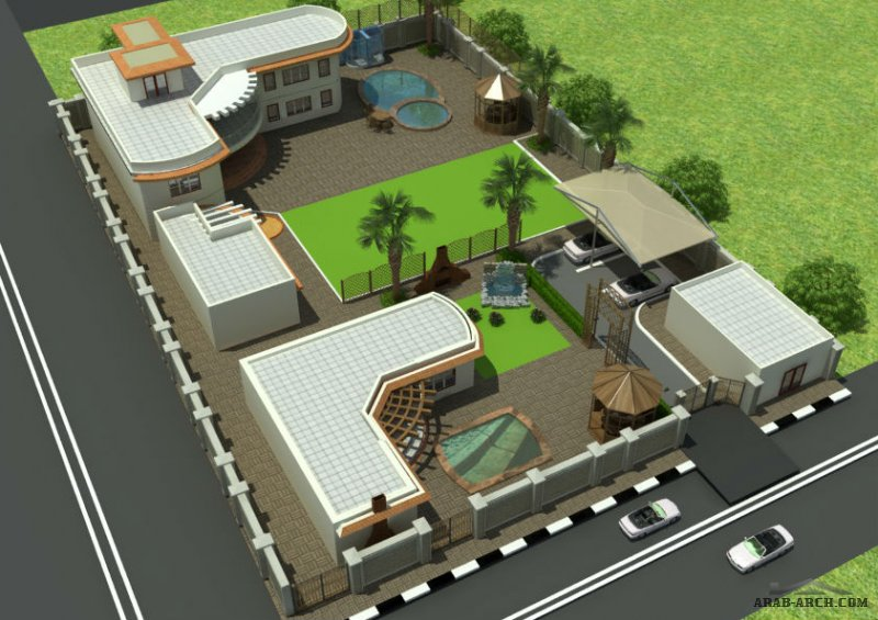 finalizing 3d villa -  by Summer fouad